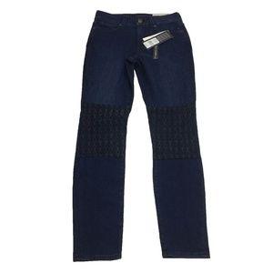 NWT NYDJ Skinny Legging Knee Patch Jeans Size 2